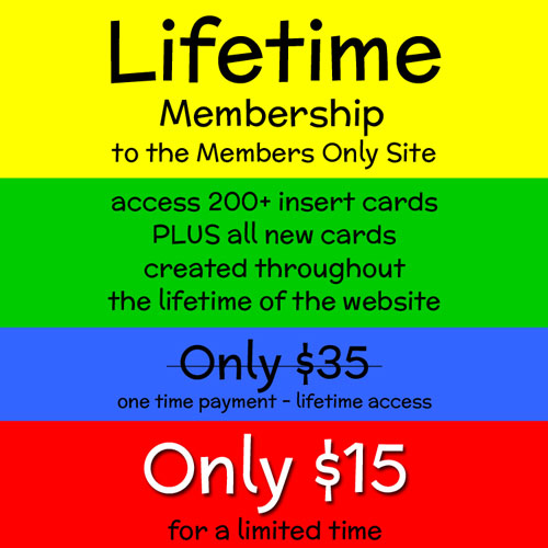 Lifetime Membership Sale $15