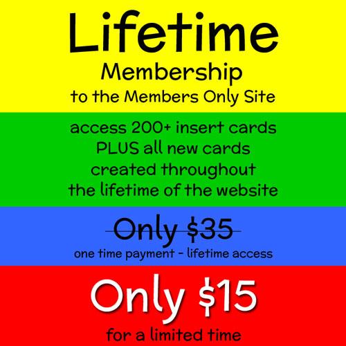 Lifetime Membership Sale $15